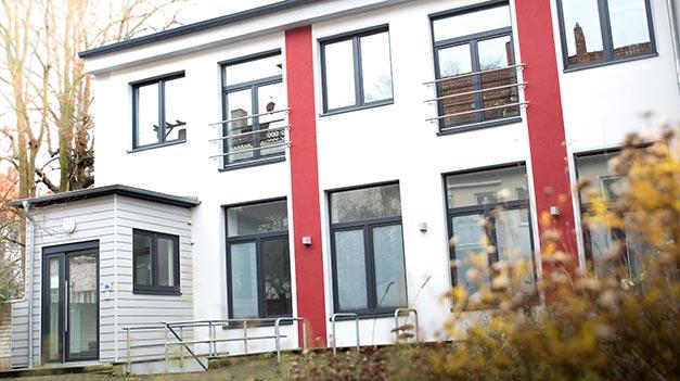 Unser Bürogebäude liegt im Innenhof der Adelheidstraße 9.