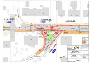 Plan Bruchsal-Knoten-Styrumstraße-Variante A