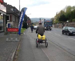 Radweg an der Bundesstraße 3 in Hannoversch Münden