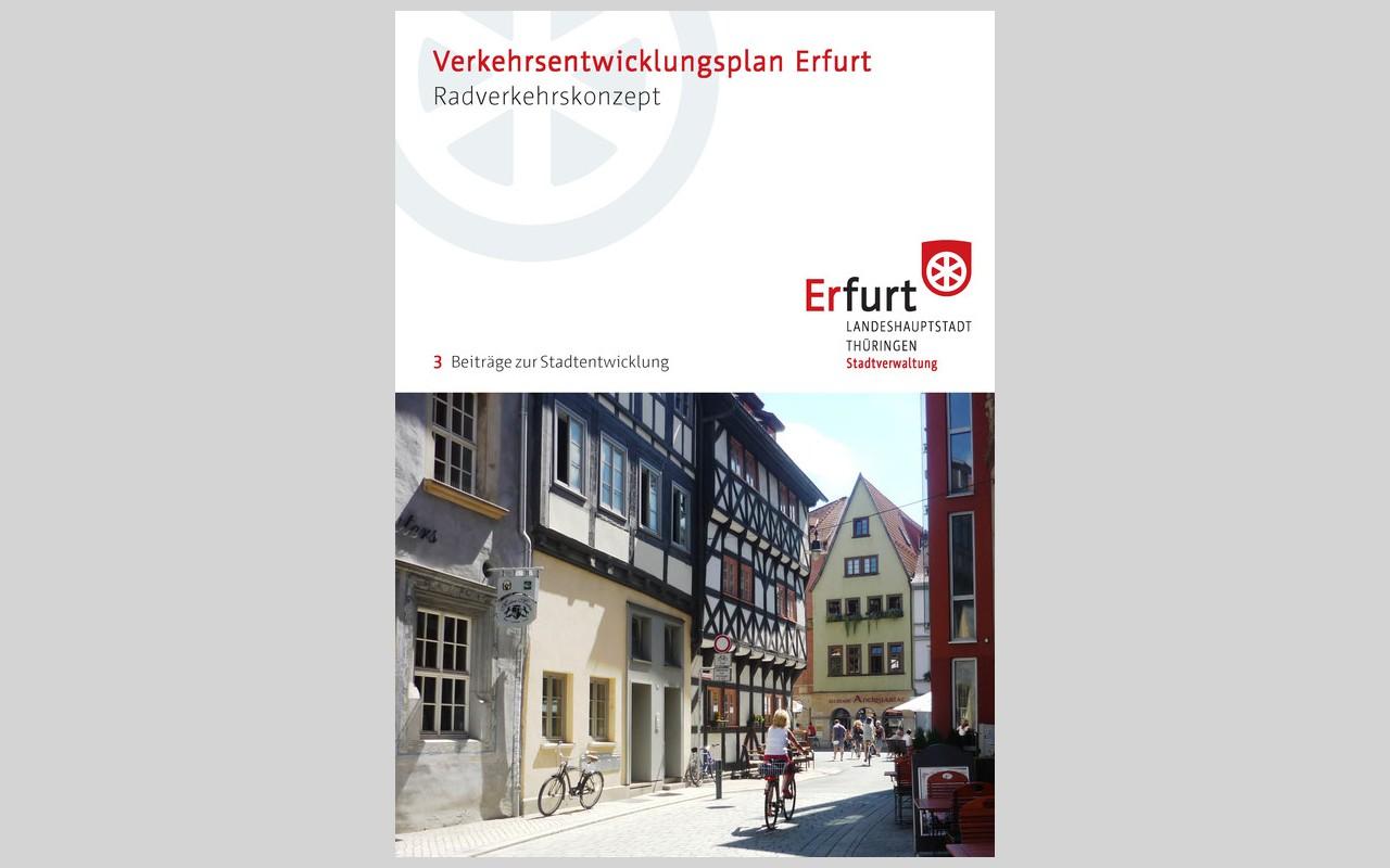 Titelblatt des Radverkehrskonzeptes Erfurt 2016