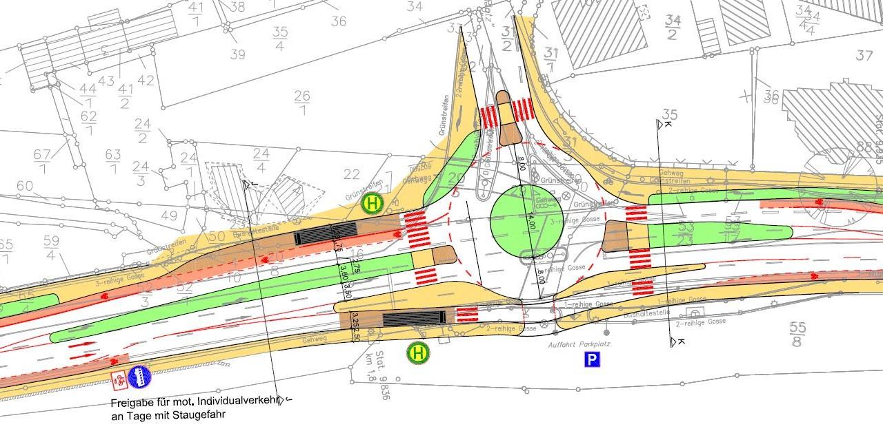 Plan Bad Harzburg Kreisverkehr Berliner Platz