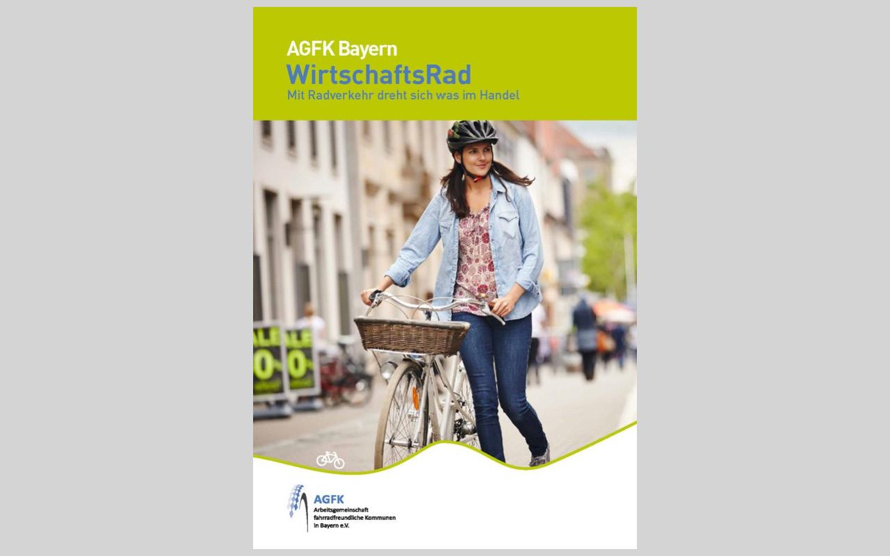 """Titelblatt der Broschüre """"WirtschaftsRad"""" der AGFK Bayern"""